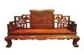客厅大红酸枝罗汉床优雅古典之风