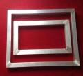 五金塑花丝印铝合金网框 印花铝框价格