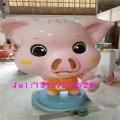 佛山吉祥物猪雕塑 玻璃钢卡通雕塑公仔形象摆件
