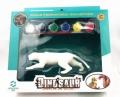 搪胶玩具定制加工厂家DIY涂鸦白模胚涂色豹子动物公