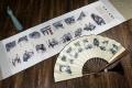 陕西关中八大怪丝绸卷轴折扇工艺品 西安纪念品