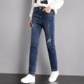 广州韩版尾货牛仔裤厂家直销便宜女装地摊货牛仔裤批发