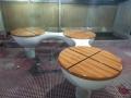 玻璃钢园林休闲椅户外凳子玻璃钢休闲椅木纹工厂定制