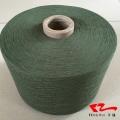 军绿色棉纱21支 气流纺军绿色再生棉纱