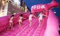 趣味粉色滑道出租全新粉色滑道租赁展览公司