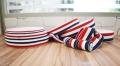 0.6cm蓝白红奖牌织带 法国国旗奖牌带