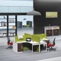 现代铁艺办公桌椅组合办公屏风会议办公桌简约实木办公