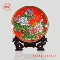 景德镇纪念盘摆件 中式陶瓷赏盘工艺盘摆件