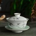 景德镇陶瓷茶碗单个家用功夫茶具小号白瓷三才盖碗茶杯