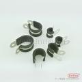 不锈钢带橡胶管夹 R型抱箍 管箍 软管金属夹 成都