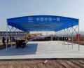 广西定做大型移动仓库钢筋棚遮阳挡雨棚活动推拉蓬