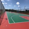 高聚物硅PU篮球场塑胶地面材料厂子