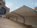 钢膜结构停车棚车棚汽车棚自行车景观棚雨蓬蓬遮阳棚