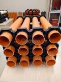 北京橘红色cpvc电力管生产厂家新原料扩口连接