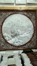 粉彩瓷板画 王大凡大型陶瓷浮雕壁画瓷板画