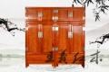 王义雕刻大师精品红木衣柜 免费保养红木衣柜家具