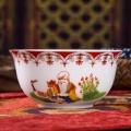 景德镇陶瓷寿桃长寿碗定制 男女长辈老人生日寿宴答谢
