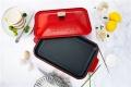 小智干料理锅美食 双层复古烤箱复古红