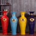 景德镇陶瓷器落地大花瓶 仿古青花瓷 客厅摆件装饰