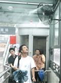 火车站台智能喷雾降温冷雾风扇设备