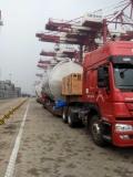 一个40尺集装箱大柜从石家庄高邑运输到青岛港的拖车
