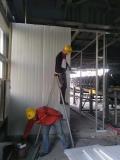 天津河西区钢结构车棚搭建现场图片