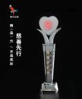扶贫关爱活动纪念水晶奖杯
