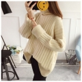 泰州市便宜女士毛衣厂家直销韩版高领针织长袖羊毛衫