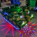 新款迷彩坦克玩具车广场儿童亲子双人电瓶碰碰车遥控车