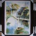 景德镇陶瓷青花瓷板画壁画中式客厅卧室装饰画挂画名家