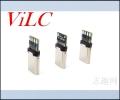 侧铆TYPE C带板公头 4焊点 大电流 编带包装