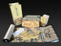 西安丝绸之路文化扇礼品 丝路山水地图邮票收藏纪念册