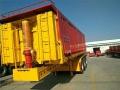 装150吨石子后翻半挂自卸车轻型厂配标准