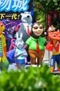 贵州卡通展卡通玩偶卡通人物模型展览暖场道具出租租赁
