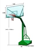 河池都安一副篮球架的价格_移动式篮球架批发