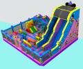 郑州三乐玩具有限公司专业加工大型充气滑梯城堡