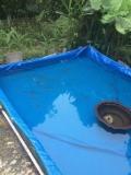 加厚养殖篷布鱼池定做-耐磨帆布蓄水池生产厂家