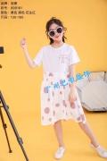 广东知名童装品牌童戈中大童时尚夏装折扣尾货批发供应