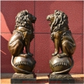 铸铜狮子厂家定制 太和殿铜狮子 清代铜狮子