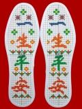 纯棉十字绣刺绣针孔精准印花鞋垫
