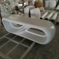 日字形玻璃钢休闲椅创意座椅公共商业简约日字休闲坐凳