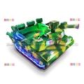 儿童广场迷彩坦克碰碰车双人亲子玩具车游乐设备卡丁车