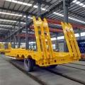 半挂超低拖盘板车自动爬梯式公告的尺寸 出厂价格