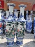 景德镇陶瓷落地大花瓶厂家定制山水青花花瓶