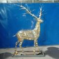 畅销LED灯造型鹿雕塑 装饰灯鹿摆件 不锈钢梅花鹿