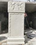 曲阳石雕汉白玉龙凤石碑,刻字石碑,定做墓碑