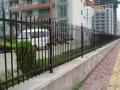 广州市欧式小区安装锌钢带花铁艺护栏