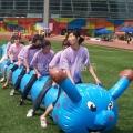 趣味运动会器材充气毛毛虫亲子拓展训练游戏道具