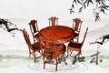 红木圆桌家具硬木家具 红木圆桌充满传统文化内涵