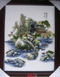 景德镇陶瓷画 玄关挂画沙发背景画 背景墙瓷板画